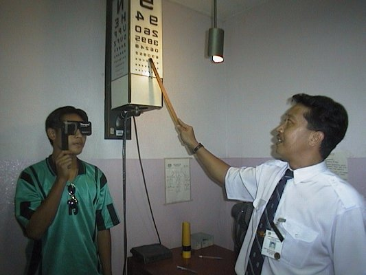All patients get a snellen's visual acuity examination